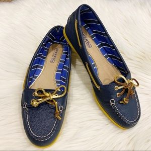 Sperry Top - Sider | Navy and Yellow | Leather